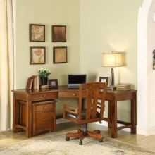 Craftsman Home - Corner Desk - Americana Oak Finish