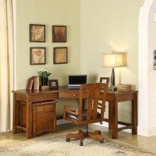 Craftsman Home - Corner Desk - Americana Oak Finish