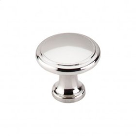 Ringed Knob 1 1/8 Inch - Polished Nickel