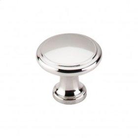 Ringed Knob 1 1/8 Inch - Polished Nickel