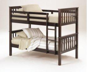 Sadler Twin over Twin Bunk Bed - Merlot