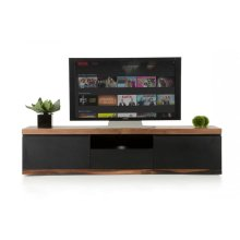 Modrest Norse Modern Black & Wood TV Stand