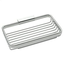 "Polished Chrome 8"" Toiletry Basket"