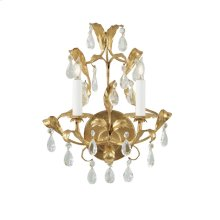 Gold and Crystal Sconce