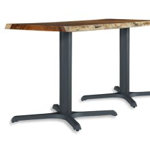 "Live Edge 36"" Bistro Height Black Metal Table Base"