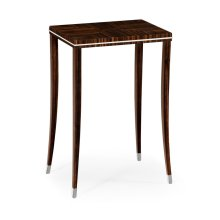 Macassar Ebony Lamp Table with White Brass Detail