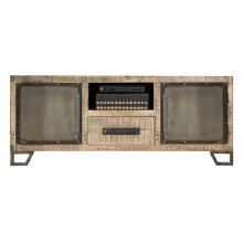 Bridgewater Entertainment Console - Brushed Tan Wood