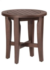 Preston Backless Non-swivel Round Bath Stool - Walnut (eucalptus)