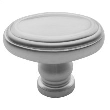 Satin Chrome Decorative Oval Knob