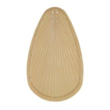 """Klever Collection 52"""" Klever ABS Palm Fan Blades"""