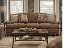 FRANKLIN 84840S Indira Faux Leather Sofa