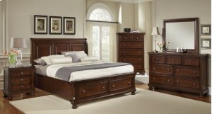 Sleigh Bed with Storage (Queen)