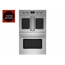 """30"""" Double Electric Wall Oven with French & Drop Down Doors"""