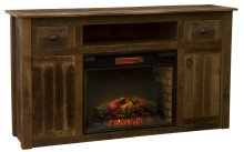 Entertainment Center with Fireplace Espresso