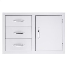 3-Drawer/Door Combo