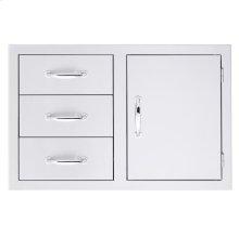 3-Drawer/Door Combo