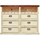 White/Walnut Don Carlos TV Dresser Product Image