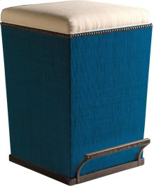 Thatch Fabric Purveyor Counter Stool in Aqua Finish