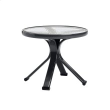 "Quantum 18"" Round Occasional Table, Glass Top"