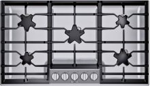 "36"" 5 Burner Gas Cooktop, Pedestal, SS"