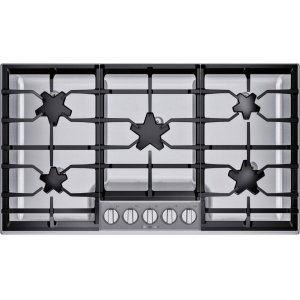Thermador36-Inch Masterpiece® Pedestal Star® Burner Gas Cooktop