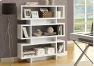 "BOOKCASE - 55""H / WHITE MODERN STYLE Product Image"