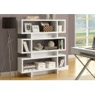 """BOOKCASE - 55""""H / WHITE MODERN STYLE Product Image"""
