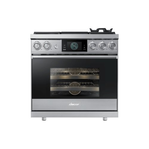 "36"" Pro Dual-Fuel Steam Range, Silver Stainless Steel, Natural Gas"