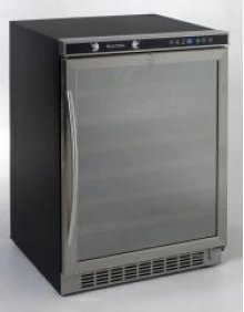 Built-In or Free Standing Wine Chiller with Mirror Finish Door