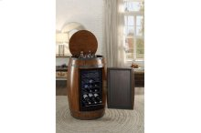 Wine Barrel Refrigerator, Dark Oak