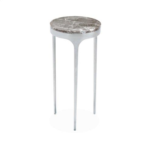 Camilla Drink Table - Italian Grey/ Nickel