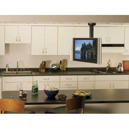 "Black Full-Motion Ceiling Mount for TVs Up to 40"""
