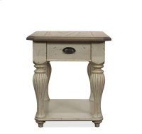 Coventry Rectangular Side Table Weathered Driftwood/Dover White finish Product Image