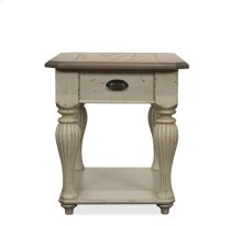 Coventry Rectangular Side Table Weathered Driftwood/Dover White finish
