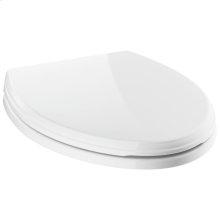 White Elongated Standard Close Toilet Seat