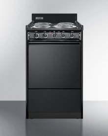 "20"" Wide Electric Range In Black With Lower Storage Compartment"
