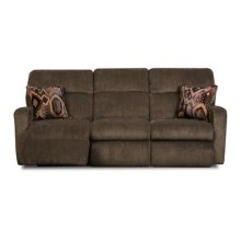 Savannah Double Reclining Sofa with Pillows and Power