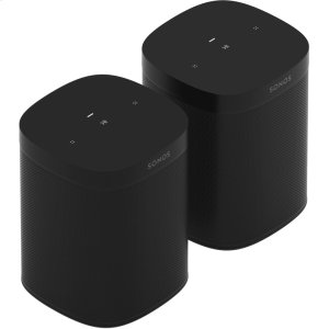 SonosBlack- Two Room Set with Sonos One SL