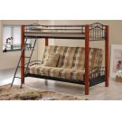 Collins Collection Cinnamon and Black Transitional Bunk Bed Product Image