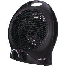 Portable Electric Space Heater & Fan (Black)