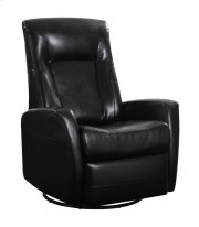 Emerald Home Conrad Swivel Glider Bonded Leather Black U5073-04-06 Product Image