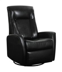 Emerald Home Conrad Swivel Glider Bonded Leather Black U5073-04-06