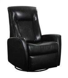 Emerald Home Conrad Swivel Glider Bonded Leather Black U5073-04-06