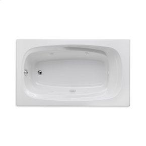 "Easy-Clean High Gloss Acrylic Surface, Rectangular, Whirlpool Bathtub, 36"" X 60"""