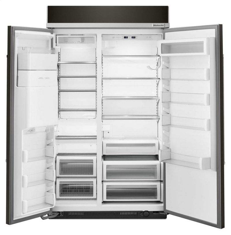 29 5 Cu Ft 48 Inch Width Built In Side By Refrigerator With