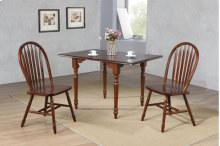 Sunset Trading 3 Piece Drop Leaf Dining Set in Chestnut with Arrowback Chairs