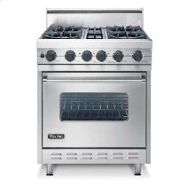 "Oyster Gray 30"" Open Burner, Dual Fuel Range - VDSC (30"" wide range with four burners, single oven)"