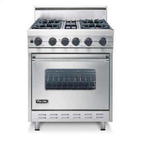 "Cotton White 30"" Open Burner, Dual Fuel Range - VDSC (30"" wide range with four burners, single oven)"