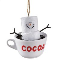 "S'mores Cup of ""Cocoa"" Ornament. Product Image"