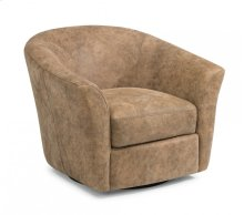 Carly Leather Swivel Chair